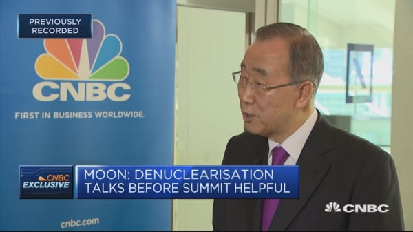 Cannot say that I trust North Korea and Kim, Ban Ki-moon says