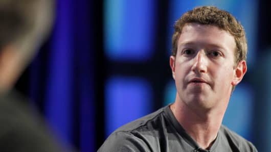 Mark Zuckerberg, chief executive officer of Facebook Inc.