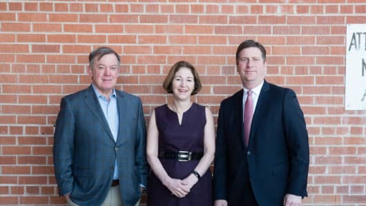 (From left to right) Michael Crow, president of Arizona State University; Anne-Marie Slaughter, CEO of New America; and Greg Stanton, mayor of Phoenix, at ShiftLabs Phoenix