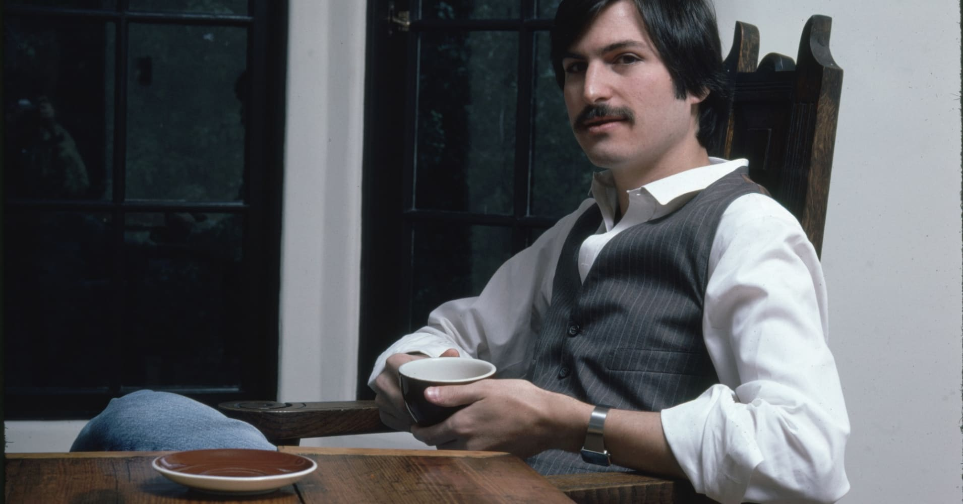 CIRCA 1982: Steve Jobs of Apple Computer.