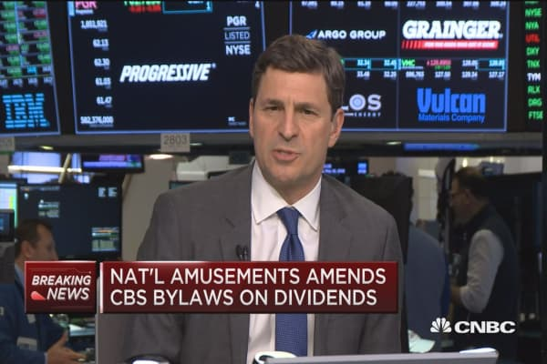 National Amusements amends CBS bylaws on dividends