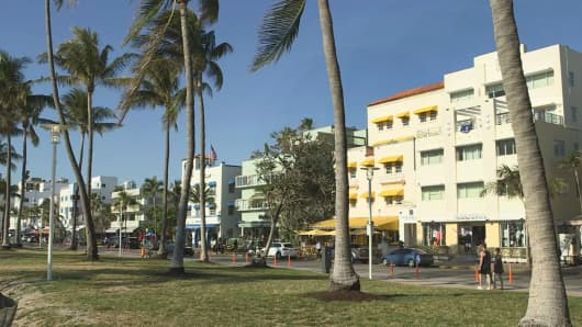 Popular short-term rental destination Miami Beach