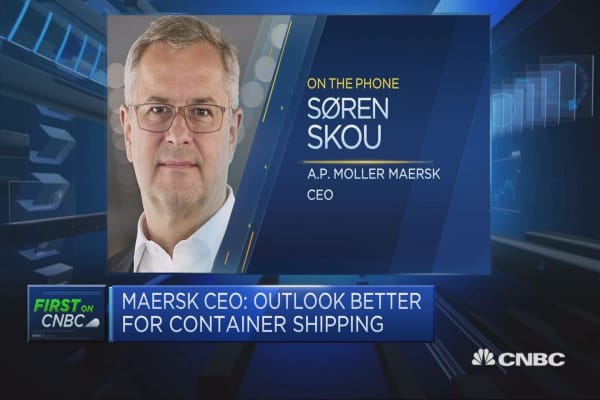 Maersk enjoying some benefits from rise in oil prices, CEO says