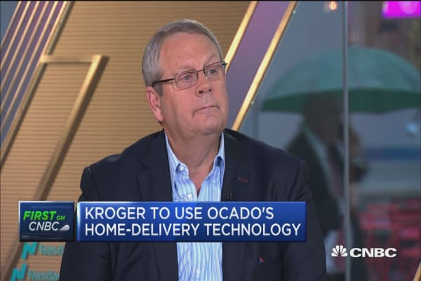 Kroger to use Ocada's home-delivery tech