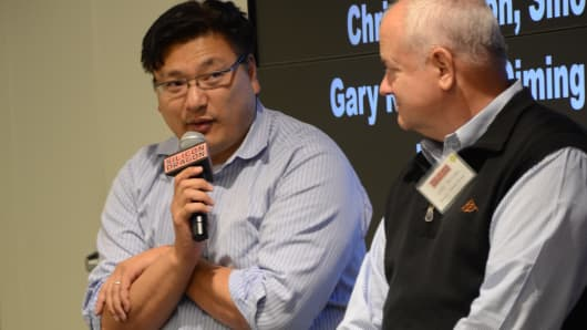 Hans Tung of GGV Capital (left) and Gary Rieschel of Qiming Venture Partners