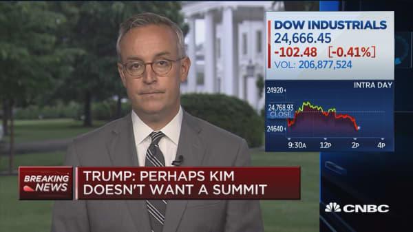 Trump: Perhaps Kim doesn't want a summit