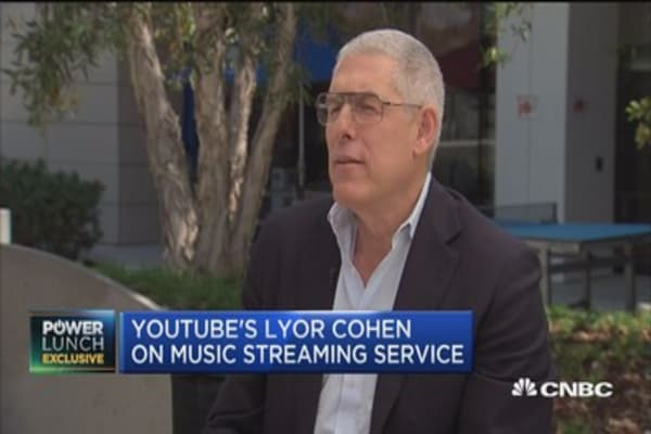 YouTube's Lyor Cohen: There's huge opportunity in front of us with music service