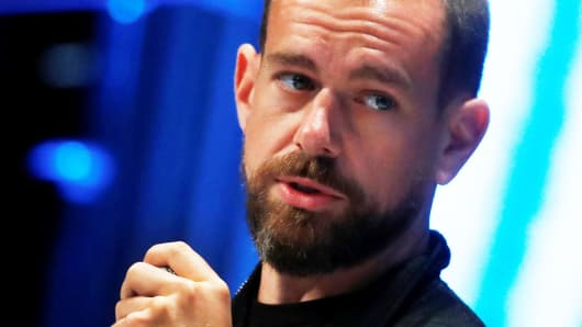 Jack Dorsey, CEO and co-founder of Twitter and founder and CEO of Square