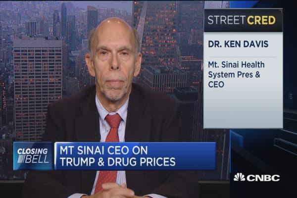 Mt. Sinai CEO: May need legislation to control drug prices