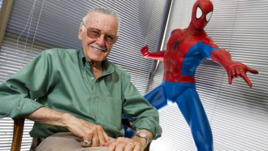 Stan Lee in his office in Beverly Hills, California.
