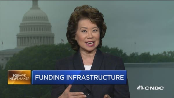 Secretary Chao urges not to 'discriminate' against private sector for infrastructure projects