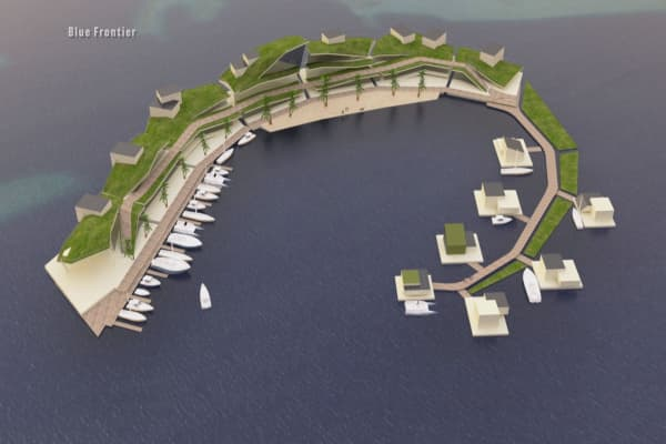 A floating Pacific island is in the works with its own government, cryptocurrency and 300 houses