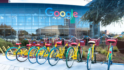 Google's headquarters at Mountain View, California