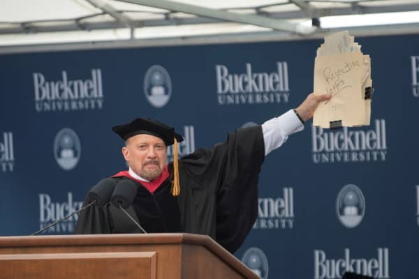 CNBC's Jim Cramer delivers the 2018 commencement address at Bucknell University.
