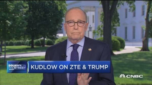 Kudlow: ZTE push 'primarily an enforcement issue'