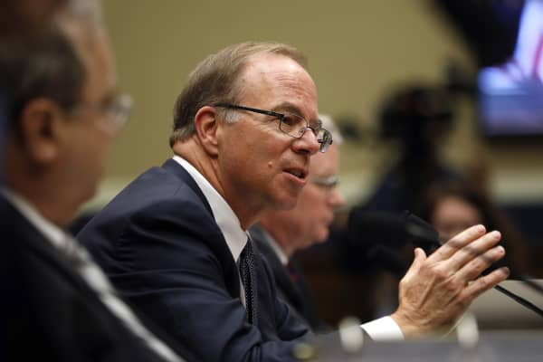 John Hammergren, president and chief executive officer of McKesson Corp., testifies during a House Energy and Commerce Subcommittee hearing in Washington, D.C., U.S., on Tuesday, May 8, 2018.