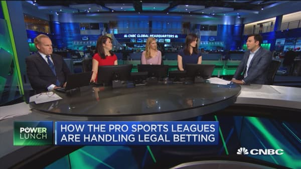 How the pro sports leagues are handling legal betting
