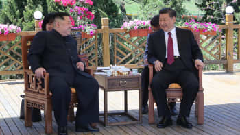 Chinese president Xi Jinping holds talks with North Korean leader Kim Jong Un in Dalian on May 7-8 2018.