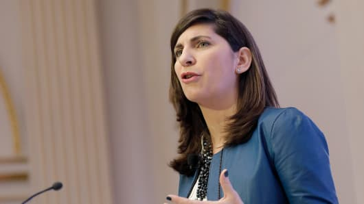 Stacey Cunningham, chief operating officer of NYSE Group Inc.