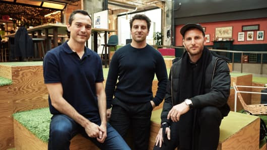 Airbnb's founders (left to right): Nathan Blecharcyk, Brian Chesky, and Joe Gebbia