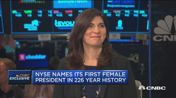 First female NYSE president Stacey Cunningham speaks to CNBC