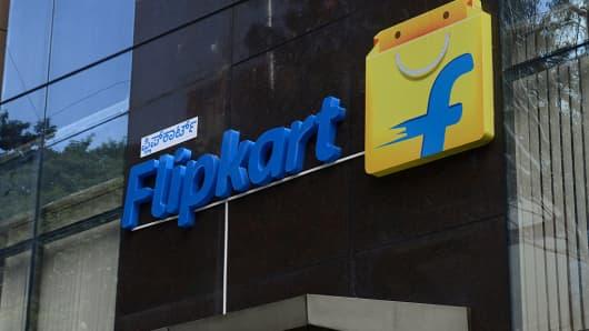 Outside view of Flipkart office shot on October 01, 2015 in Bengaluru, India.