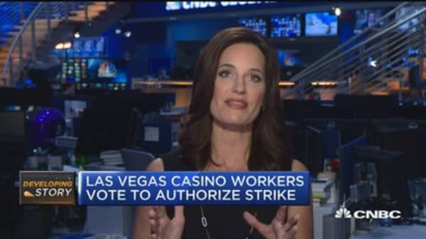 Union casino workers vote to strike