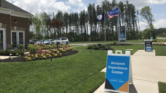 A Lennar/Amazon experience center in Aldie, VA.