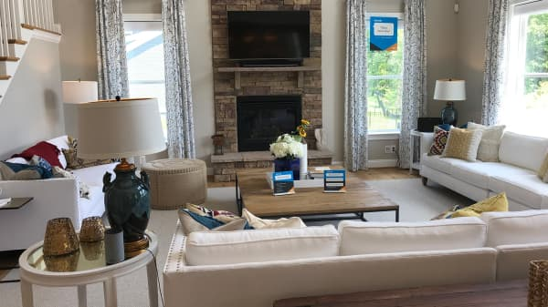 The Lennar/Amazon experience living room in Aldie, VA.