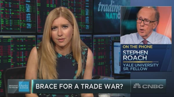 Stephen Roach is not ruling out trade war risk facing the market