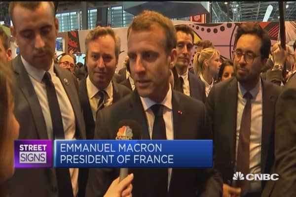 French President Macron: Told Zuckerberg tech needs new regulation