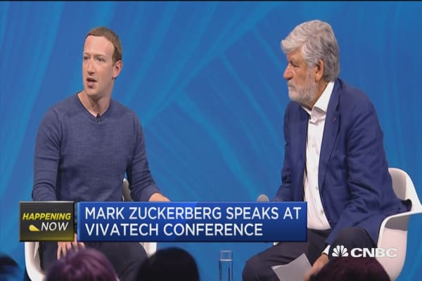 Facebook's Mark Zuckerberg speaks at VivaTech Conference
