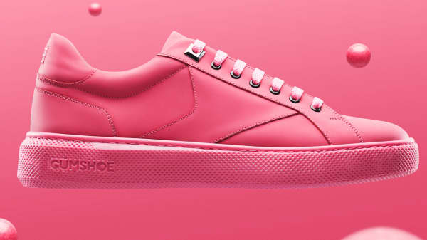 These shoes are made out of gum