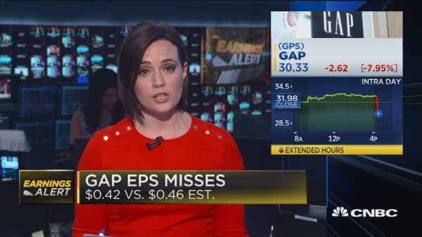 Gap misses on earnings, Ross Stores comp sales up
