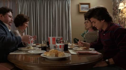 "KFC was integrated into this scene from ""Stranger Things"" season 2."