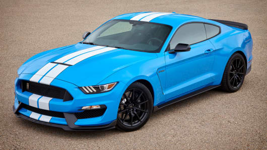 The Ford Shelby GT350 Mustang is the most powerful version of the iconic car, named after racer and designer Carroll Shelby.