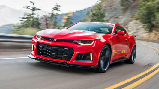 The Chevrolet Camaro ZL1 starts at about $62,000 and is powered by a 650-horsepower V8 engine, a considerable upgrade over the roughly $26,000 base model.