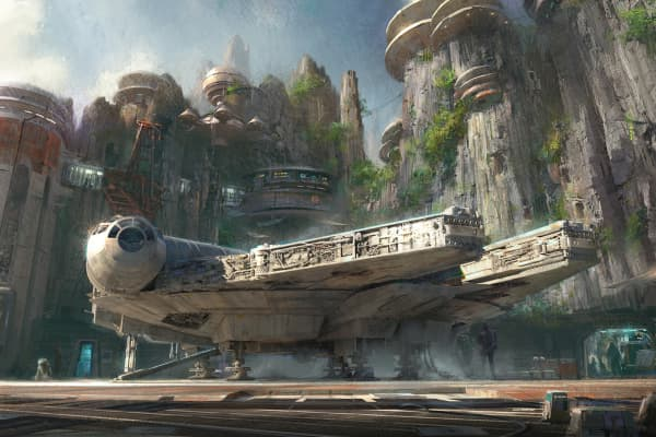 Handout image provided by Disney Parks, Walt Disney Company Chairman and CEO Bob Iger announced at D23 EXPO 2015 that Star Wars-themed lands will be coming to Disneyland park in Anaheim, California and Disney's Hollywood Studios in Orlando, Florida.
