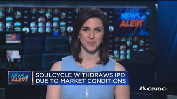 Soulcycle pulls IPO due to market conditions