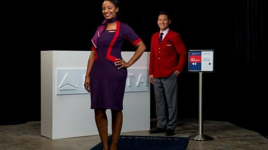 """Delta's new uniforms in """"Passport Plum."""""""