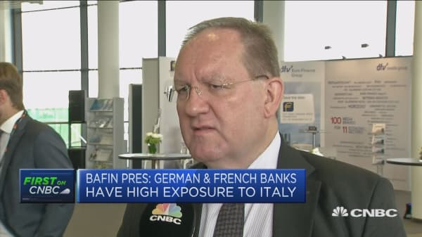 BaFin president: Always a risk of contagion between euro zone banks