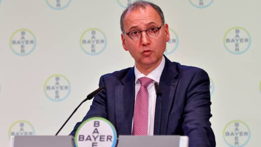 The CEO of German chemicals giant Bayer Werner Baumann.