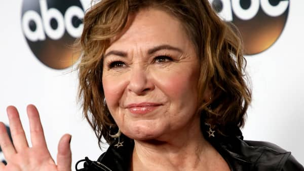 Actress Roseanne Barr attends Disney ABC Television Group's TCA Winter Press Tour 2018 at The Langham Huntington, Pasadena on January 8, 2018 in Pasadena, California.