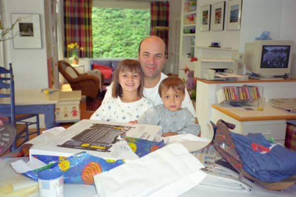 Kevin O'Leary and his children when they were young