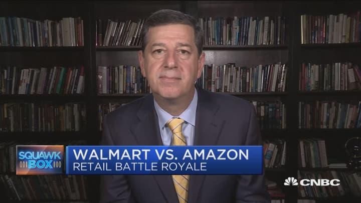 Clash of the retail giants: Amazon vs  Walmart