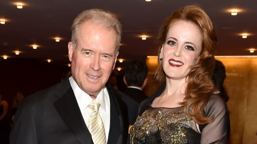Robert Mercer and Rebekah Mercer attend the 2017 TIME 100 Gala at Jazz at Lincoln Center on April 25, 2017 in New York City.