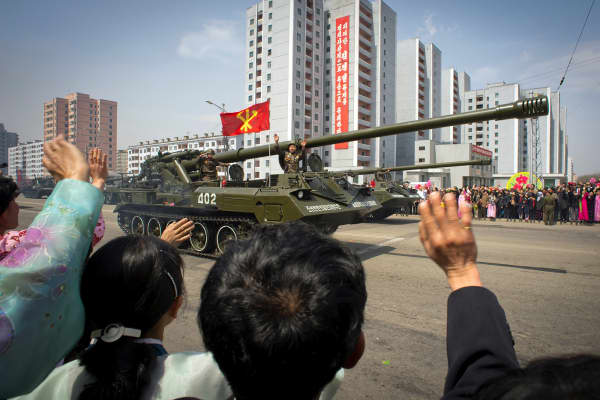 Military parade for Kim Il Sung