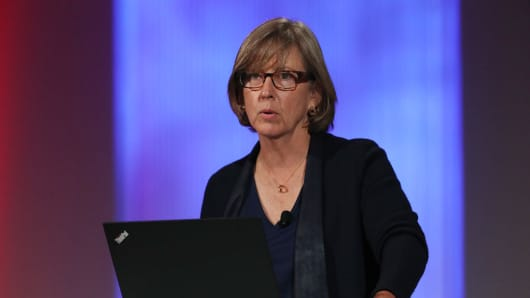 Mary Meeker presents her annual Internet Trends Report at Code 2018.