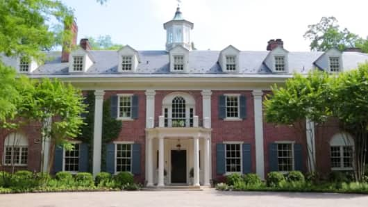 The childhood home of Jacqueline Kennedy Onassis in McLean, Virginia.