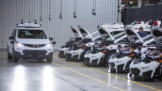 General Motors Cruise test vehicles